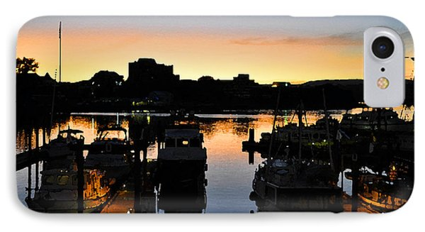 IPhone Case featuring the digital art Victoria Harbor Sunset 3 by Kirt Tisdale