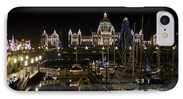 Victoria Harbour At Christmas IPhone Case