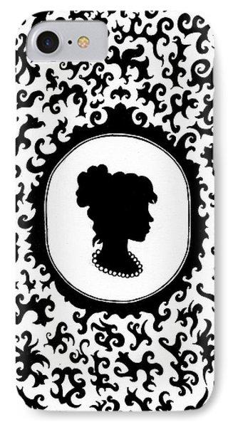 Victorian Cameo Phone Case by Bonnie Leeman