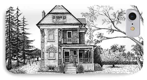Victorian Farmhouse Pen And Ink Phone Case by Renee Forth-Fukumoto