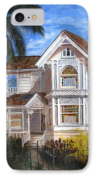 IPhone Case featuring the painting Victorian House by LaVonne Hand