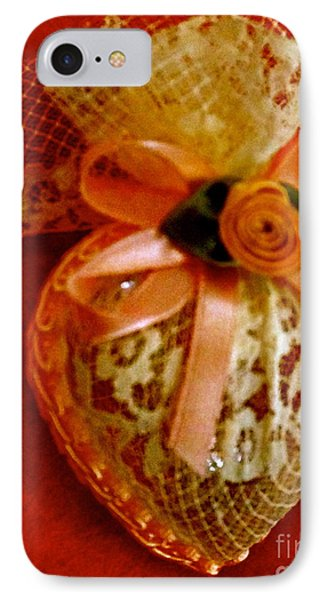 Victorian Lace Heart Study 2 IPhone Case by Cathy Dee Janes