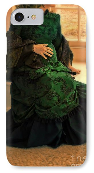Victorian Lady Expecting A Baby Phone Case by Jill Battaglia
