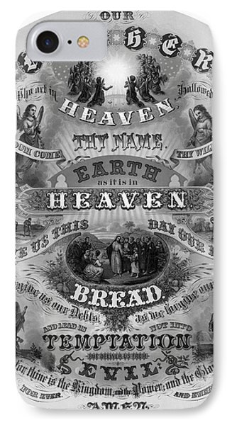 Victorian Lords Prayer IPhone Case by Daniel Hagerman