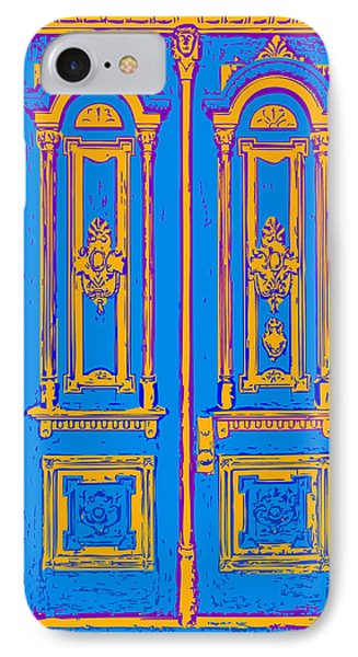 Victoriandoorpopart IPhone Case by Greg Joens
