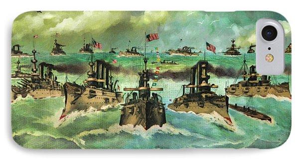 Victorious Navy - 1898 Phone Case by Lianne Schneider
