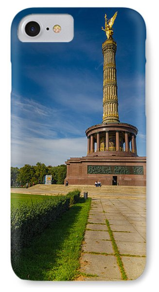 Victory Column IPhone Case by Jonah  Anderson