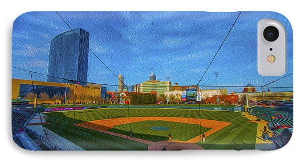 Victory Field Home Plate Phone Case by David Haskett