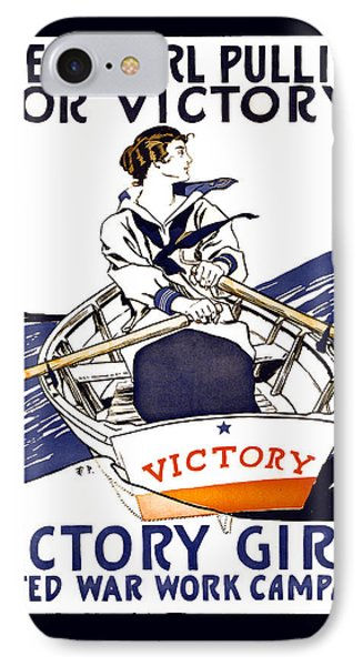 Victory Girls Of W W 1     1918 Phone Case by Daniel Hagerman