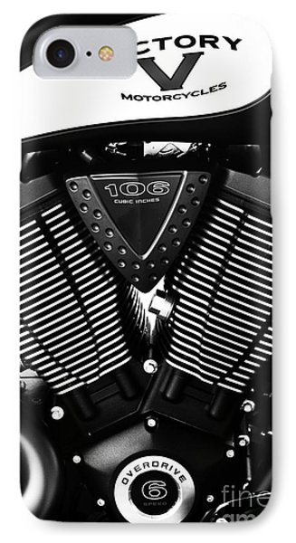 Victory Motorcycle Monochrome IPhone Case by Tim Gainey