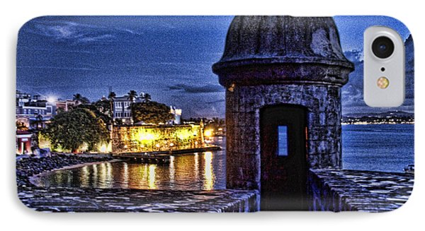 Viejo San Juan En La Noche IPhone Case by Daniel Sheldon
