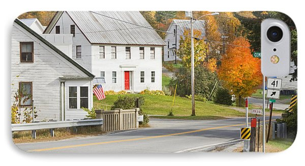 Vienna Maine In Fall IPhone Case by Keith Webber Jr