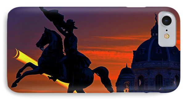 Vienna Monuments And Crescent Moon IPhone Case