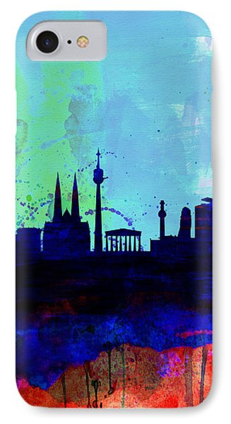 Vienna Watercolor Skyline IPhone Case