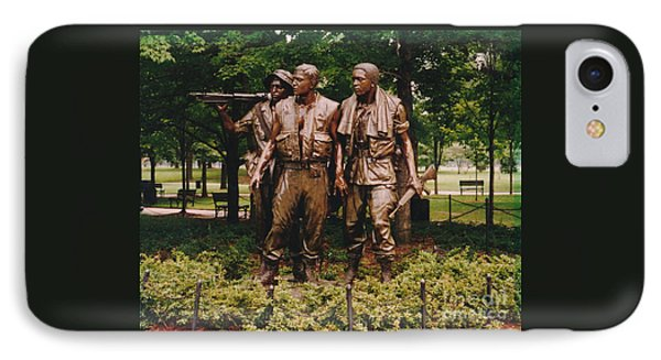 IPhone Case featuring the photograph Viet Nam Soldier's Memorial by Jesse Ciazza