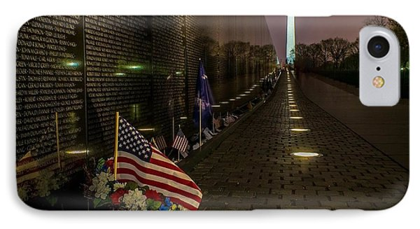 Vietnam Veterans Memorial At Night IPhone Case by Nick Zelinsky