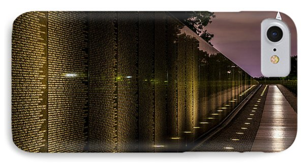Vietnam Veterans Memorial IPhone Case by David Morefield