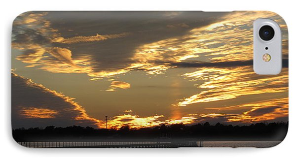 IPhone Case featuring the photograph View At The Pier by Joetta Beauford