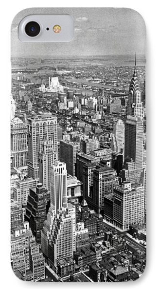 View East From Empire State IPhone Case by Underwood Archives