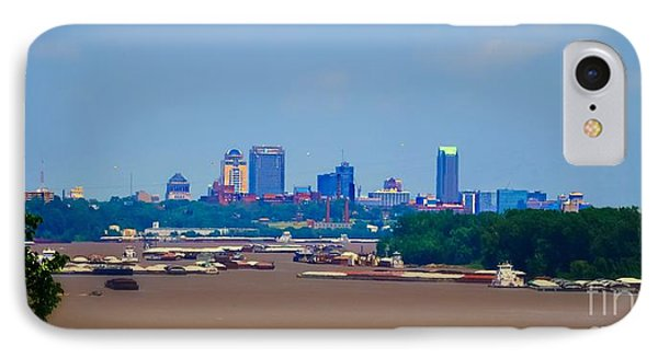 View From A Far St. Louis Downtown Phone Case by Peggy Franz