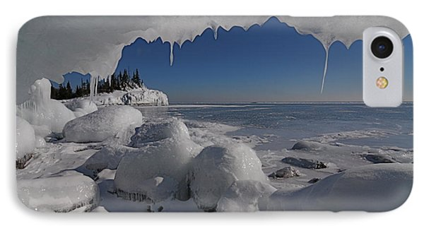 View From An Ice Cave IPhone Case by Sandra Updyke