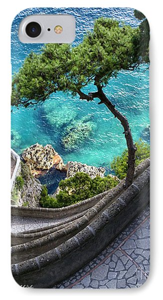 View From Capri.italy IPhone Case by Jennie Breeze