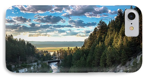 View From Cascade Dam Of The North Fork Of The Payette River Phone Case by Robert Bales