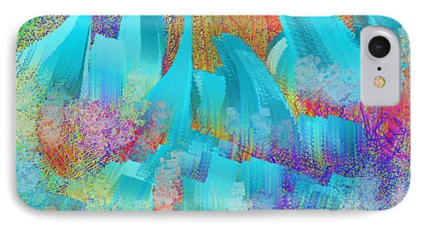 View From Central Park Abstract Painting IPhone Case