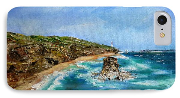 IPhone Case featuring the painting View From Great Ocean Road - Original Sold by Therese Alcorn