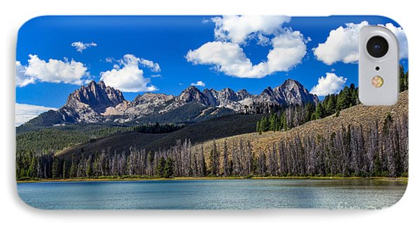View From Little Redfish Lake IPhone Case by Robert Bales