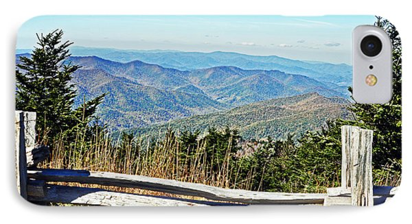 View From Mt. Mitchell Summit IPhone Case by Lydia Holly
