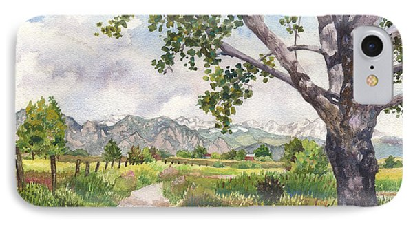 View From Stearns Lake IPhone Case by Anne Gifford