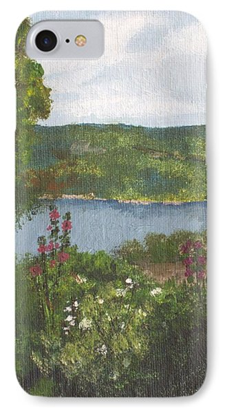 IPhone Case featuring the painting View From The Garden by Cynthia Morgan