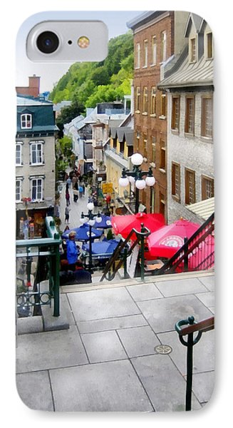 View From The Stairs Old Quebec City  Phone Case by Ann Powell