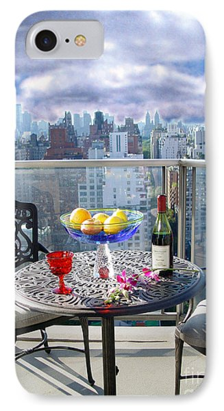View From The Terrace IPhone Case by Madeline Ellis