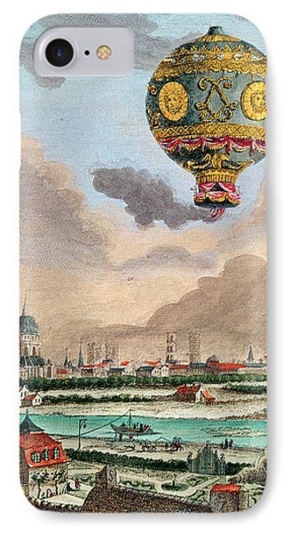 View From The Terrace Of Monsieur Franklin At Passy Of The First Flight Under The Direction IPhone Case