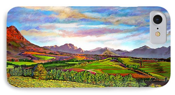 View From Warwick Vineyard Phone Case by Michael Durst