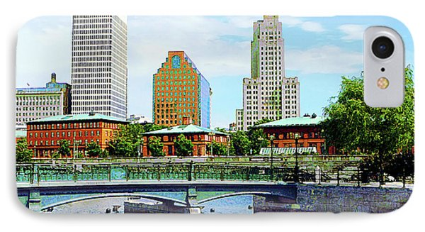 View From Waterplace Park Providence Ri Phone Case by Susan Savad