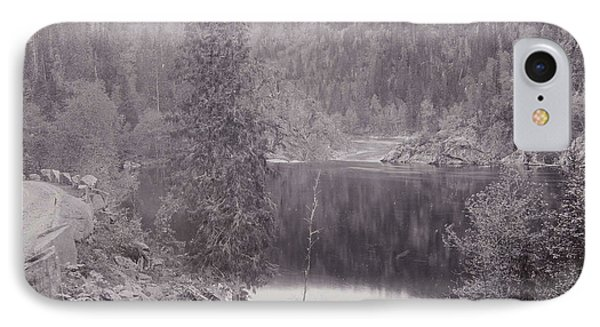 View Of A Lake In A Mountain Landscape Norway IPhone Case