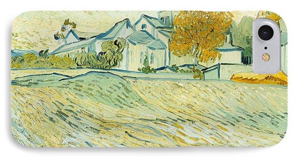 View Of Asylum And Saint-remy Chapel Phone Case by Vincent van Gogh