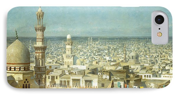View Of Cairo IPhone Case by Jean Leon Gerome