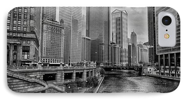 View Of Chicago River Phone Case by Mike Burgquist