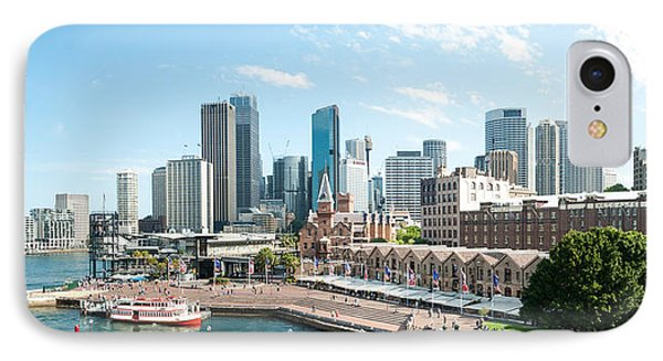 View Of Circular Quay And Downtown IPhone Case by Panoramic Images