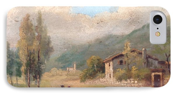 IPhone Case featuring the painting View Of Countryside by Egidio Graziani