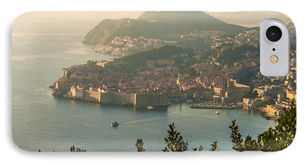 IPhone Case featuring the photograph View Of Dubrovnik Peninsula by Phyllis Peterson
