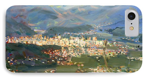 View Of Elbasan City IPhone Case