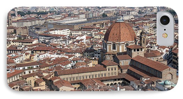 View Of Florence From Brunelleschi's Dome Phone Case by Melany Sarafis