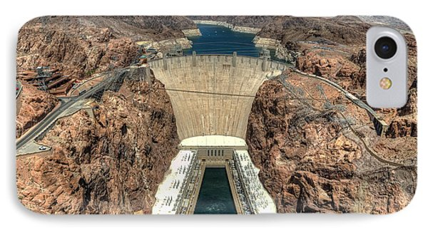 View Of Hoover Dam Phone Case by Eddie Yerkish