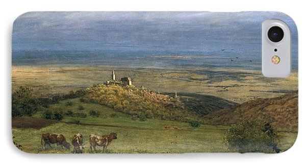View Of Kronberg In Taunus IPhone Case by Hans Thoma