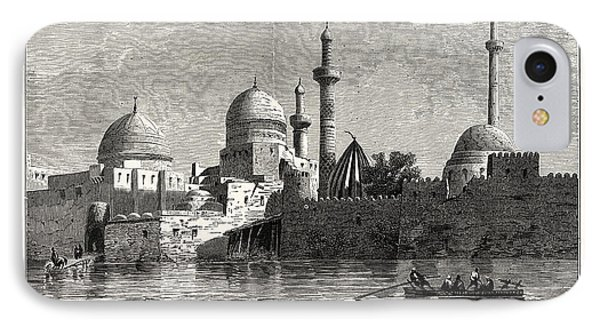 View Of Mosul From The Tigris. Baghdad IPhone Case